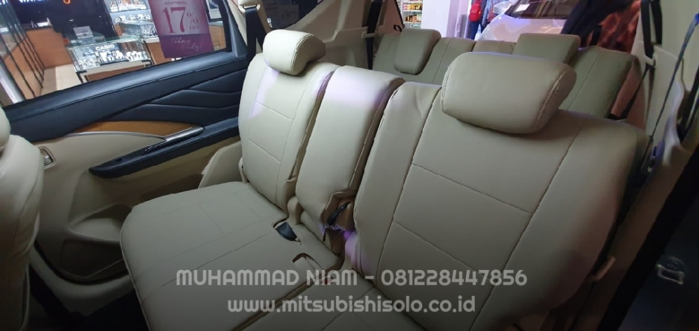 Seat cover jok mb tech xpander beige krem tengah bonus