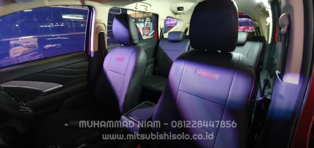 Seat cover jok mb tech xpander hitam depan bonus