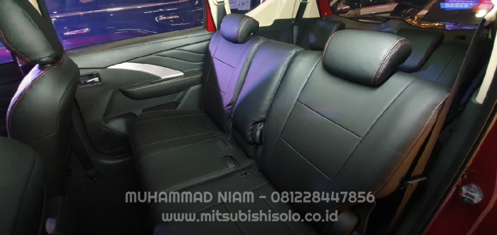 Seat cover jok mb tech xpander hitam tengah bonus